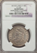 Bust Half Dollars, 1819/8 50C Large 9, O-104, R.1, -- Improperly Cleaned -- Details NGC. AU. NGC Census: (2/11). PCGS Population: (3/8). AU50....