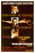 "Movie Posters:James Bond, Goldfinger (United Artists, 1964). One Sheet (27"" X 41"") FlatStyle.. ..."