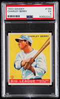 Baseball Cards:Singles (1930-1939), 1933 Goudey Charley Berry #184 PSA EX 5....