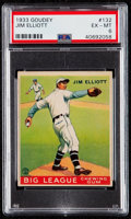 Baseball Cards:Singles (1930-1939), 1933 Goudey Jim Elliott #132 PSA EX-MT 6....