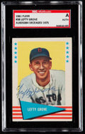 Autographs:Sports Cards, Signed 1961 Fleer Lefty Grove #38 SGC Authentic....