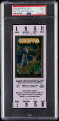 Football Collectibles:Tickets, 2003 Super Bowl XXXVII (Lavender) Full Ticket PSA Mint 9 - Tampa Bay Buccaneers Win. ...