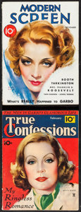 """Movie Posters:Miscellaneous, True Confessions & Other Lot (Fawcett Publications, 1934).Magazines (2) (Multiple Pages, 8.5"""" X 11"""", 11.5"""").Miscellaneous.... (Total: 2 Items)"""