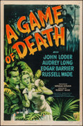 "Movie Posters:Horror, A Game of Death (RKO, 1945). One Sheet (27"" X 41""). Horror.. ..."