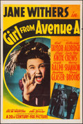 "Movie Posters:Comedy, Girl From Avenue A (20th Century Fox, 1940). One Sheet (27"" X 41""). Comedy.. ..."