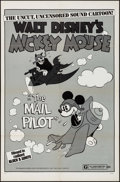 "Movie Posters:Animation, Mickey Mouse in The Mail Pilot (Buena Vista, R-1974). One Sheet (27"" X 41""). Animation.. ..."