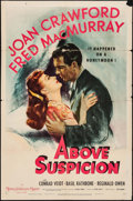 "Movie Posters:Thriller, Above Suspicion (MGM, 1943). One Sheet (27"" X 41"") Style D.Thriller.. ..."