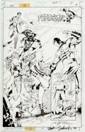 Original Comic Art:Splash Pages, Stephen Sadowski and Michael Bair JSA #1 Splash Page 19Original Art (DC, 1999)....