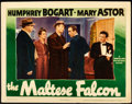 """Movie Posters:Film Noir, The Maltese Falcon (Warner Brothers, 1941). Lobby Card (11"""" X14"""").. ..."""