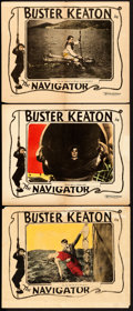 "Movie Posters:Comedy, The Navigator (Metro Goldwyn, 1924). Lobby Cards (3) (11"" X 14"")..... (Total: 3 Items)"