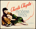 "Movie Posters:Comedy, Modern Times (United Artists, 1936). Title Lobby Card (11"" X 14"").. ..."
