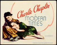 """Modern Times (United Artists, 1936). Title Lobby Card (11"""" X 14"""")"""