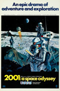 "Movie Posters:Science Fiction, 2001: A Space Odyssey (MGM, 1968). Cinerama One Sheet (27"" X 41"")Style B, with Letter (8.5"" X 11""), Robert McCall Ar..."
