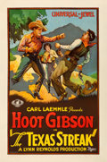 "Movie Posters:Western, The Texas Streak (Universal, 1926). One Sheet (27"" X 41"").. ..."