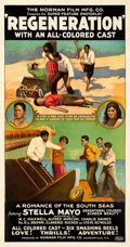 "Movie Posters:Black Films, Regeneration (Norman, 1923). Three Sheet (41"" X 77.75"").. ..."