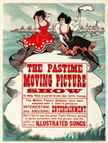 """Movie Posters:Miscellaneous, Edison Moving Picture Show (Edison Manufacturing Co., c. 1900). Posters (2) (20"""" X 28"""" & 21"""" X 28"""").. ... (Total: 2 Items)"""