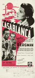 "Movie Posters:Academy Award Winners, Casablanca (Warner Brothers, 1943). Swedish Insert (12.75"" X 27.5"").. ..."