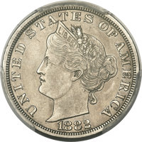 1882 5C Liberty Head Five Cents, Judd-1684, Pollock-1886, Low R.6 -- Surfaces Smoothed -- PCGS Proof Genuine. AU Details...