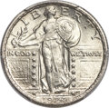 Standing Liberty Quarters, 1924 25C MS66+ Full Head PCGS Secure. CAC....