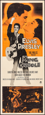 "King Creole (Paramount, 1958) Rolled, Very Fine-. Insert (14"" X 36""). Elvis Presley"