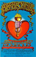 Music Memorabilia:Posters, Big Brother & the Holding Company/Santana Fillmore West Concert Poster BG-136 (Bill Graham, 1968)....