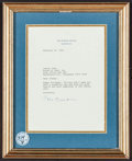 Movie Posters, Johnny and June Carter Cash Presidential Birthday Letters (UnitedStates White House, 1995). Signed Birthday Letters (2) (Fr...(Total: 2 Items)