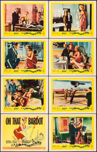 """La Parisienne (United Artists, 1958). Lobby Card Set of 8 (11"""" X 14""""). Foreign. ... (Total: 8 Items)"""