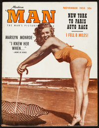 "Marilyn Monroe in Modern Man Magazine (Rosen, 1953). Pin-Up Magazine (52 Pages, 8.5"" X 11""). Miscellaneous..."