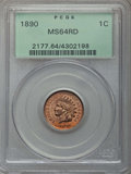Indian Cents: , 1890 1C MS64 Red PCGS. PCGS Population: (90/63). NGC Census: (41/20). MS64. Mintage 57,182,856. ...