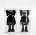 Collectible, KAWS (b. 1974). Companion (Black and Brown) (two works), 2016. Painted cast vinyl. 11 x 5 x 3-1/2 inches (27.9 x 12.7 x ... (Total: 2 Items)