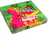 Rare 1971 Topps Football Series 2 Wax Box With 24 Unopened Packs - Terry Bradshaw Rookie Year!