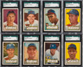 Baseball Cards:Singles (1950-1959), 1952 Topps Baseball High Numbers SGC-Graded Collection (29). ...