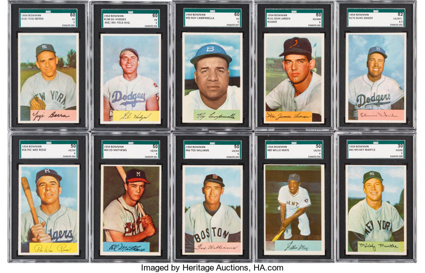 1954 Bowman Baseball Complete Set 224 With 66 Ted Williams