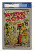 Golden Age (1938-1955):Science Fiction, Mystery in Space #25 (DC, 1955) CGC FN 6.0 Off-white pages. Thefirst Code-approved issue of this title. Interior highlights...