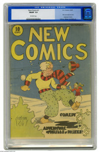 New Comics #1 (DC, 1935) CGC FN/VF 7.0 Off-white pages. Here's a piece of DC history -- the first issue of only the seco...