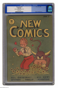 """New Comics #5 (DC, 1936) CGC VF 8.0 Off-white pages. Overstreet notes """"issue rarely occurs in Mint"""", and CGC a..."""