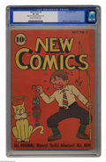 """Golden Age (1938-1955):Cartoon Character, New Comics #6 (DC, 1936) CGC VF 8.0 Cream to off-white pages. This Gerber """"rare"""" issue is a real find in this condition. Ove..."""
