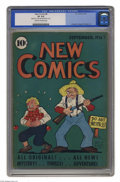 """Golden Age (1938-1955):Humor, New Comics #8 (DC, 1936) CGC VF 8.0 Cream to off-white pages. CGC has certified just one copy of this Gerber """"scarce"""" issue ..."""