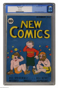 Golden Age (1938-1955):Humor, New Comics #9 (DC, 1936) CGC VF- 7.5 Off-white pages. Another opportunity for one of the earliest comic books from DC (or an...