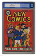 Golden Age (1938-1955):Non-Fiction, New Comics #11 (DC, 1936) CGC FN 6.0 Cream to off-white pages. Oneof the more desirable issues of this run, which would cha...