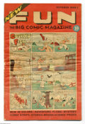 Golden Age (1938-1955):Adventure, New Fun Comics #6 (DC, 1935) Condition: VG. This final issue of New Fun contains the first installment of Siegel and Shu...