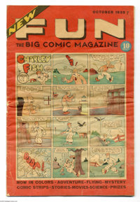 New Fun Comics #6 (DC, 1935) Condition: VG. This final issue of New Fun contains the first installment of Siegel and Shu...