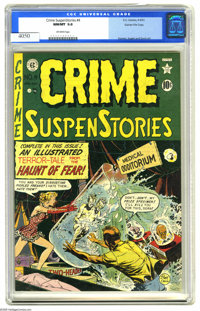 Crime SuspenStories #4 Gaines File pedigree 8/11 (EC, 1951) CGC NM/MT 9.8 Off-white pages. Who wouldn't be creeped out b...