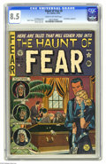 Golden Age (1938-1955):Horror, Haunt of Fear #6 (EC, 1951) CGC VF+ 8.5 Cream to off-white pages.Features EC's first of several unauthorized adaptations of...