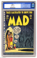 Golden Age (1938-1955):Humor, Mad #1 (EC, 1952) CGC VF/NM 9.0 Off-white to white pages. It's hard to believe that there was a world without Mad at one...