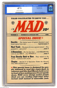 Mad #12 Gaines File pedigree 3/12 (EC, 1954) CGC NM+ 9.6 Off-white to white pages. Archie and Jughead find Mr. Weatherbe...