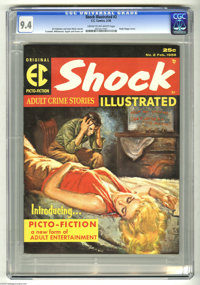 Shock Illustrated #2 (EC, 1956) CGC NM 9.4 Cream to off-white pages. This was one of the last non-Mad EC publications, a...