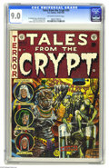 Golden Age (1938-1955):Horror, Tales From the Crypt #33 (EC, 1952) CGC VF/NM 9.0 Off-white towhite pages. EC fans finally learned the origin of the Crypt-...