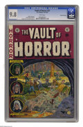 Golden Age (1938-1955):Horror, Vault of Horror #27 Gaines File pedigree (EC, 1952) CGC NM/MT 9.8 White pages. The slimy beast enveloping some poor soul on ...