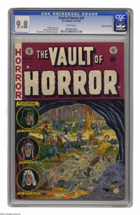 Vault of Horror #27 Gaines File pedigree (EC, 1952) CGC NM/MT 9.8 White pages. The slimy beast enveloping some poor soul...
